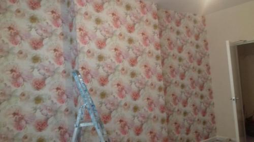 Rosey feature wall 2