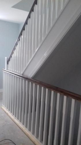 Stairs Cosy Homes painted stained and laquered