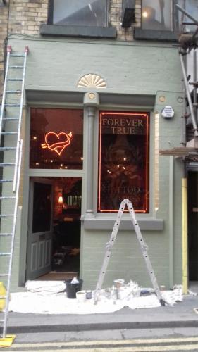 Forever True Tattoo Studio progressing 2