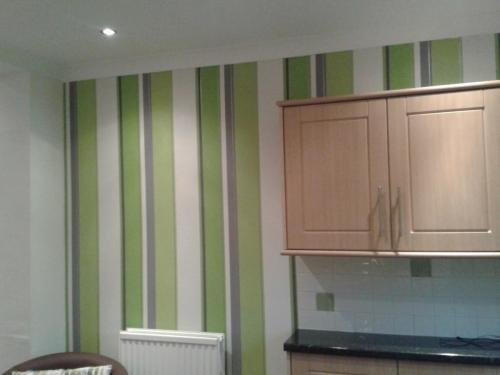 Kitchen wallpaper installed 2